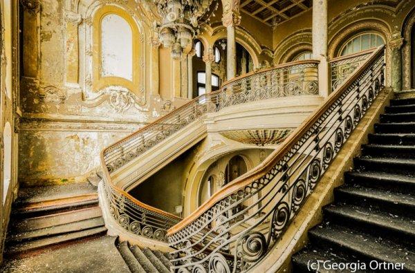 """Stairway to the past""- Acrylkaschierung"