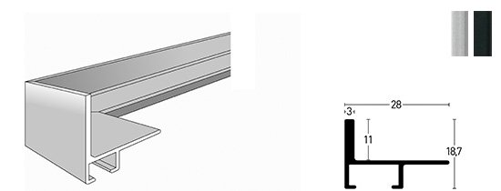 Nielsen Schattenfuge Alu Profil 230