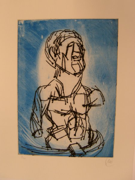 Odysseus, blau