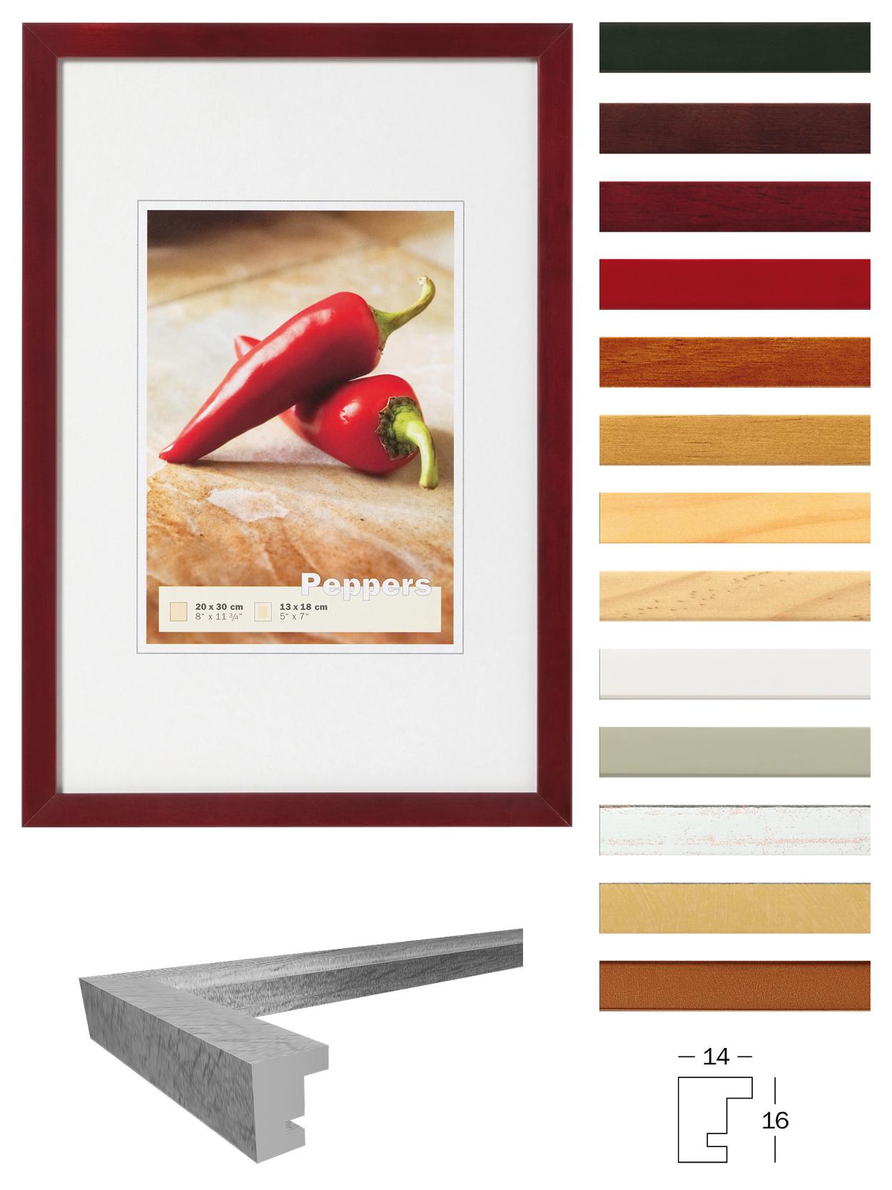Holzrahmen Peppers in vielen Farben | Bilderrahmenwerk