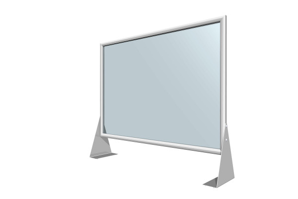 Corona-Plexiglas Einschubrahmen - Spuck- und Niesschutz