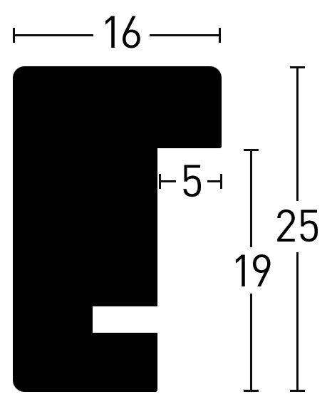 Nielsen Holz Quadrum 16x25 Holzrahmen