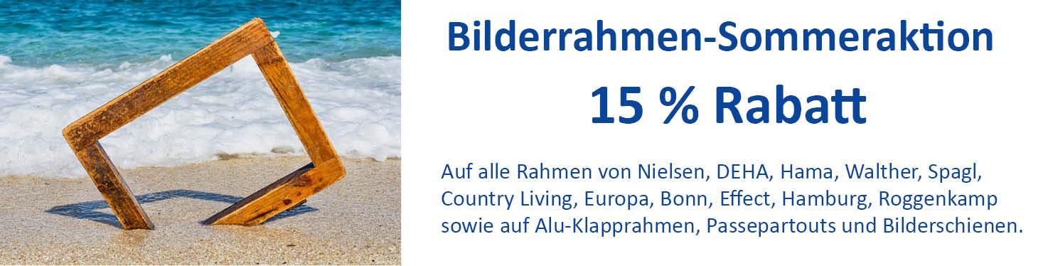 Bilderrahmen-Sommeraktion-Banner