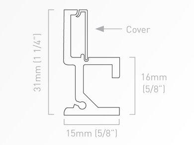 Schienenabdeckung T-Profil 250 cm
