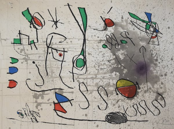 Joan Miro, Hommage à Picasso