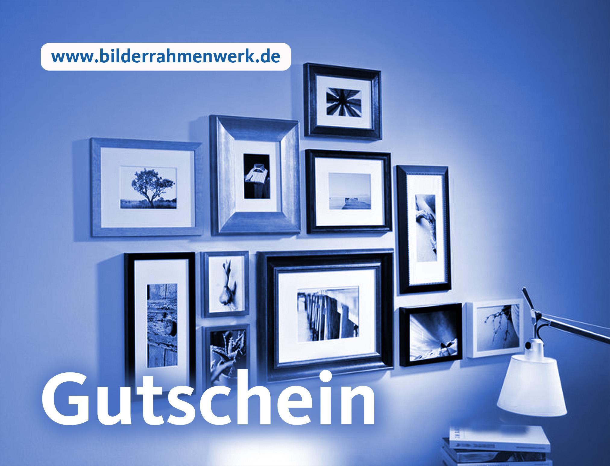 Geschenk-Gutschein für www.bilderrahmenwerk.de | Bilderrahmenwerk