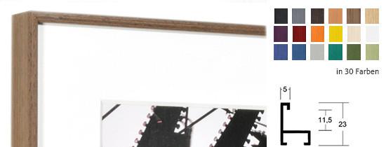 Wohlleb Alurahmen Profil 30 - Echtholz furniert