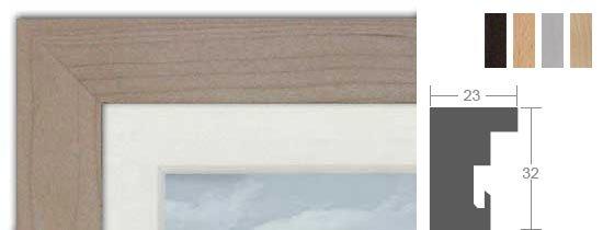 Roggenkamp Profil H - Holz-Bilderrahmen