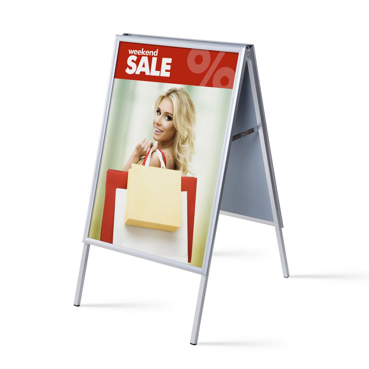 Plakatständer - Kundenstopper - Klapprahmen - Aluminium