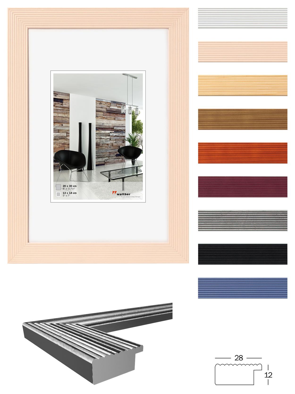 grado holz bilderrrahmen von walther design bilderrahmenwerk. Black Bedroom Furniture Sets. Home Design Ideas