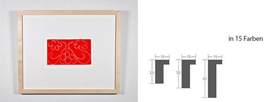 Werkladen-Rahmen Massivholz Ahorn 15