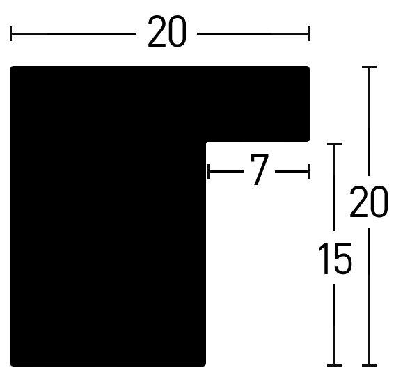 Nielsen Holz Loft 20x20 Holzrahmen