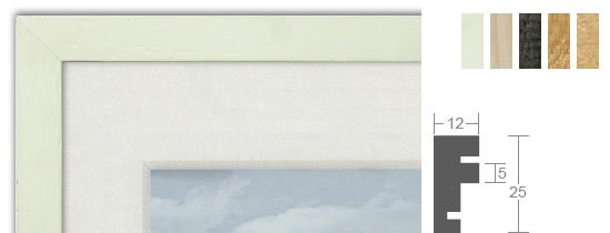 Bilderrahmenwerk WL Profil 104 Holz-Bilderrahmen