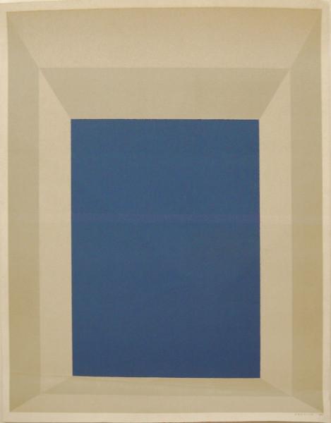 Josef Albers, blaues Rechteck