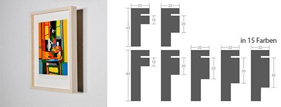 Werkladen-Rahmen Distanz Massivholz Ahorn 22