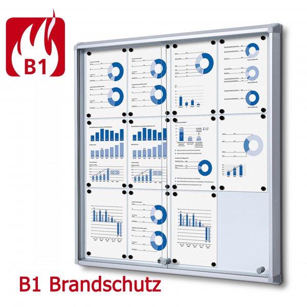 Brandschutz Schaukasten Schiebetür magnetische Rückwand B1