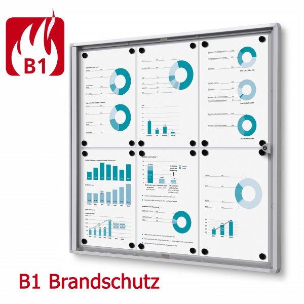 Brandschutz Schaukasten Glastür magnetische Rückwand B1