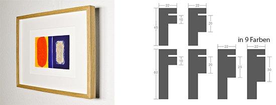 Werkladen-Rahmen Distanz Massivholz Eiche 22