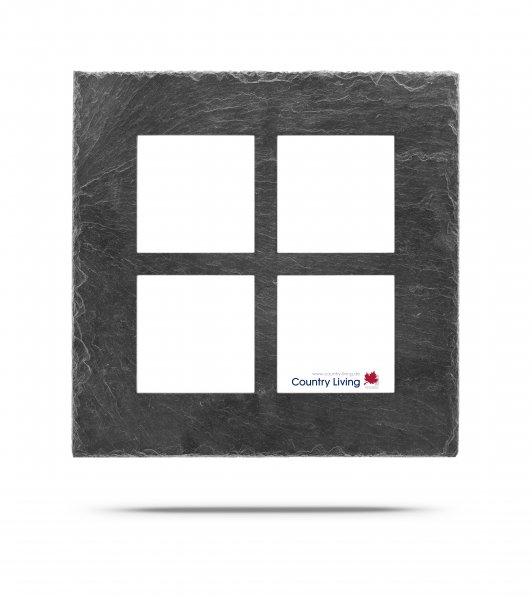 Schieferrahmen Alpha-S 4mal 10x10 Quadrat