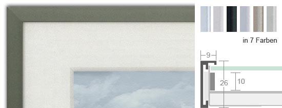 halbe magnetrahmen aus aluminium mit distanzleiste bilderrahmenwerk. Black Bedroom Furniture Sets. Home Design Ideas
