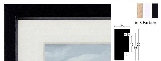 Nielsen Aura Holz-Bilderrahmen mit Passepartout und Distanz