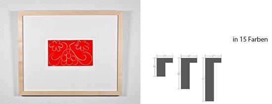 Werkladen-Rahmen Massivholz Ahorn 27