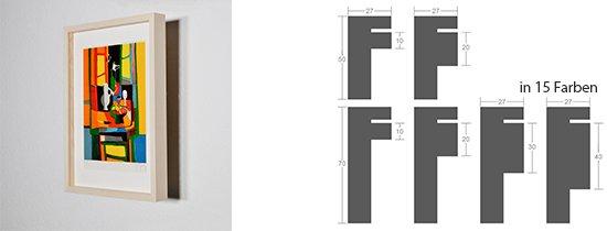 WL-Rahmen Distanz Massivholz Ahorn 27