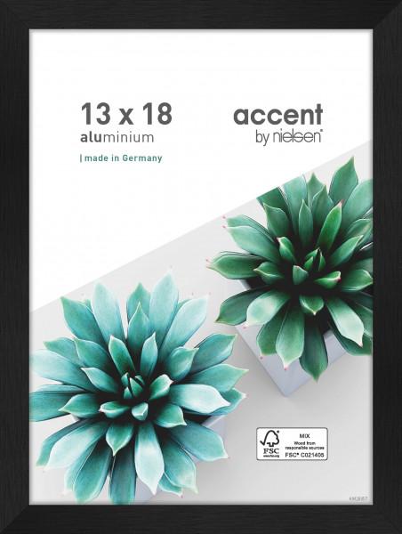 Nielsen Star Alu-Bilderrahmen 50x70cm - 13 x 18 cm - Struktur Silber Matt