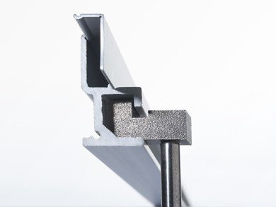Galerieschiene T-Profil 250 cm
