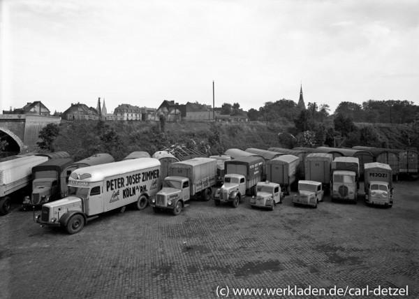 Lastwagen der Kölner Spedition Peter Josef Zimmer 1956