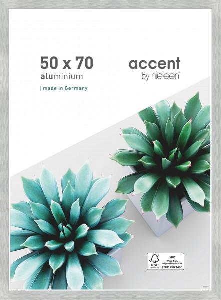 Nielsen Star Alu-Bilderrahmen 50x70cm - 50 x 70 cm - Struktur Silber Matt