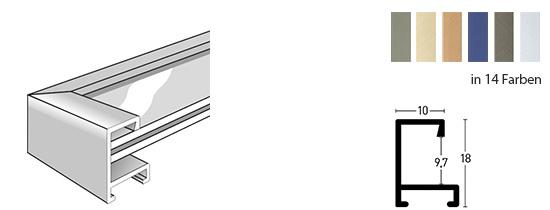 nielsen bilderrahmen aus aluminiumzuschnitten. Black Bedroom Furniture Sets. Home Design Ideas
