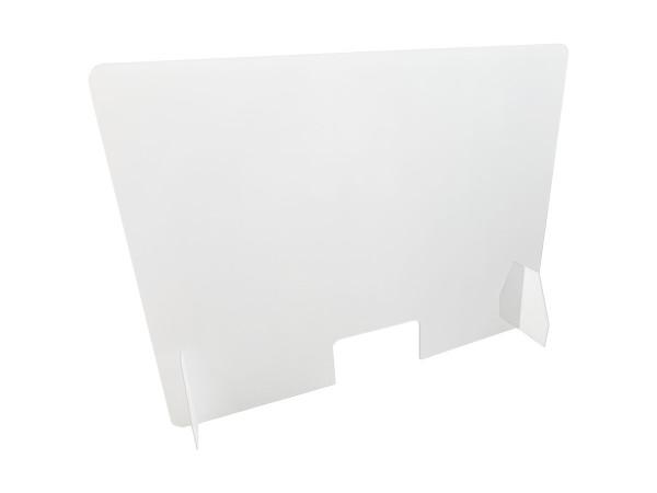 Günstige Acrylglas-Wand mit Durchreiche - Spuck- und Nies-Schutz in Coronazeiten