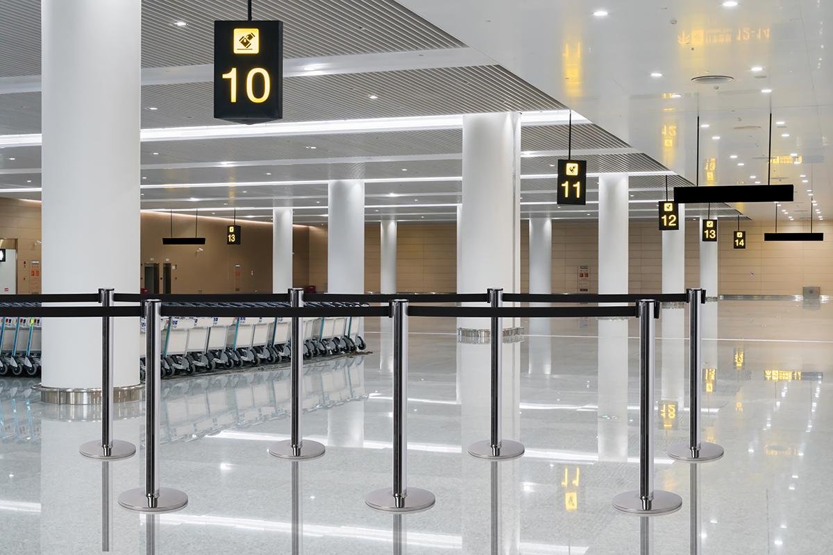 Absperrsystem-Personenleitsystem-Flughafen