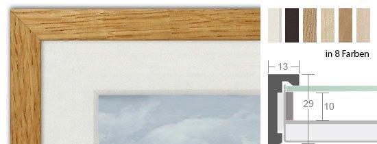 HALBE Magnetrahmen Holz 10 mit Abstand