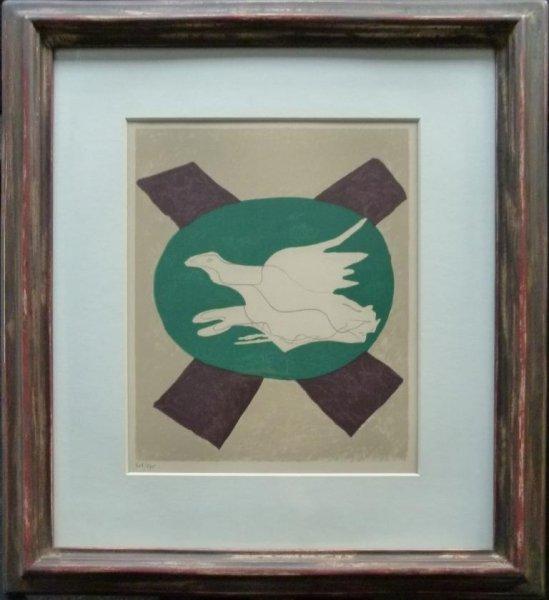 Georges Braque, Oiseau sur fond de ''X'
