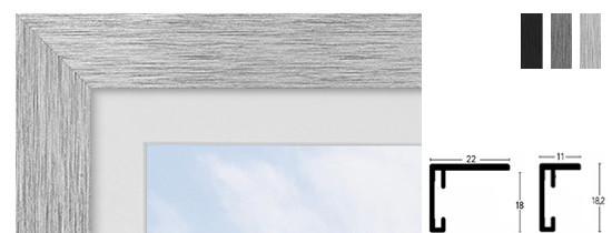 Nielsen Star Alu-Bilderrahmen - 70 x 100 cm - Struktur Schwarz Matt