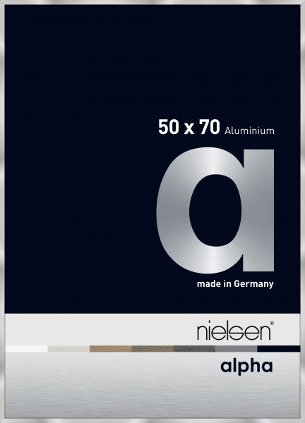Nielsen Alpha eloxierter Premium-Alurahmen 50x70cm